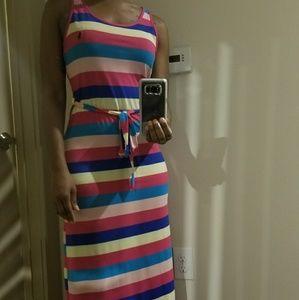 POLO Multicolor Striped Maxi dress